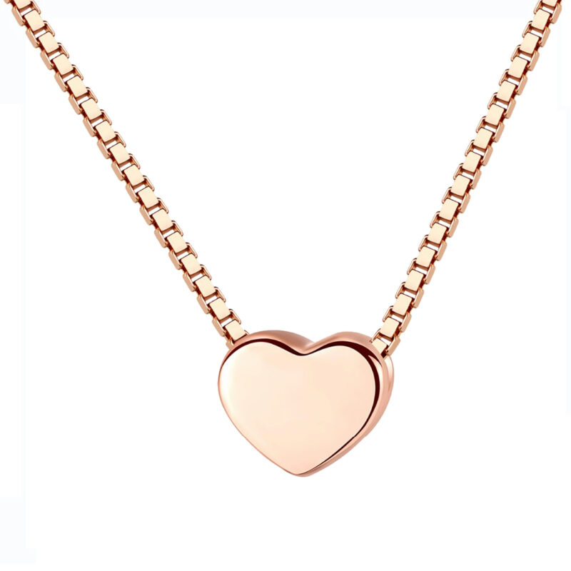 Herz Halskette klein roségold