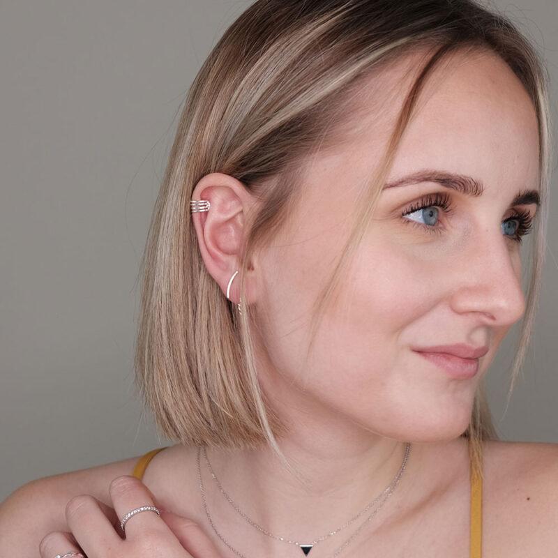 Ear Cuffs Silber