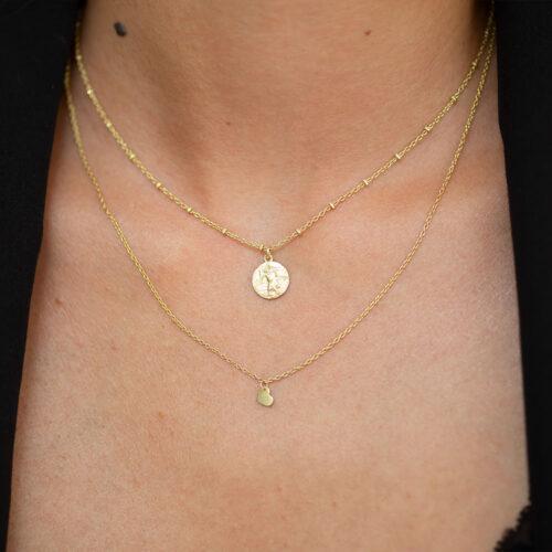 Herz Halskette und Christopherus Halskette