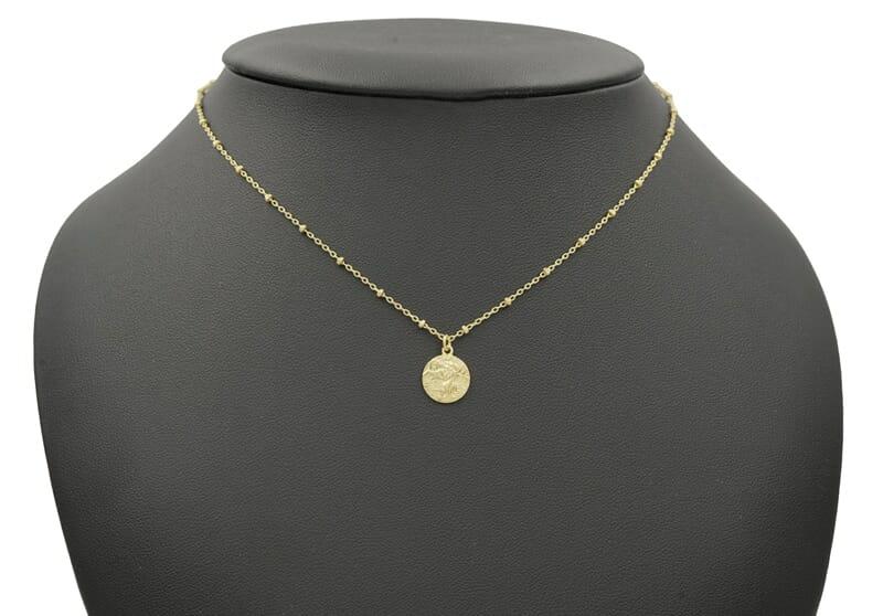 Halskette mit Christopherus Anhänger Gold