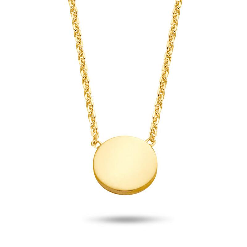 Halskette Dot Punkt Rund Gold