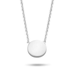 Halskette Dot Punkt Rund Silber