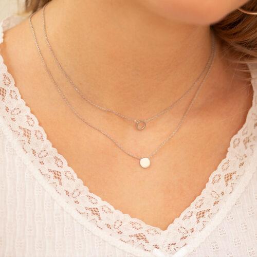 Kreis Halskette Silber