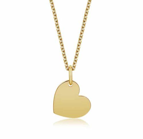 Halskette mit Herzanhänger gold