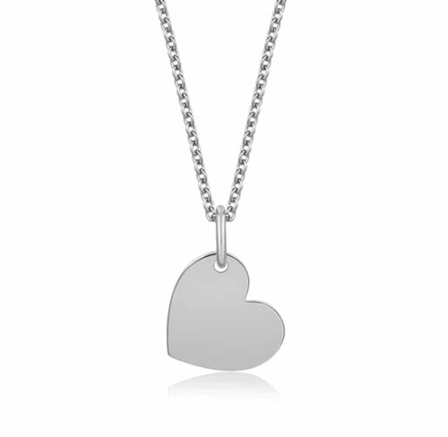 Halskette mit Herzanhänger Silber