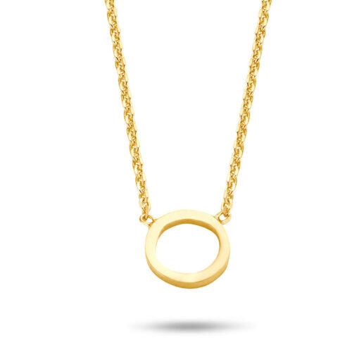 Halskette mit Kreis Anhänger Gold