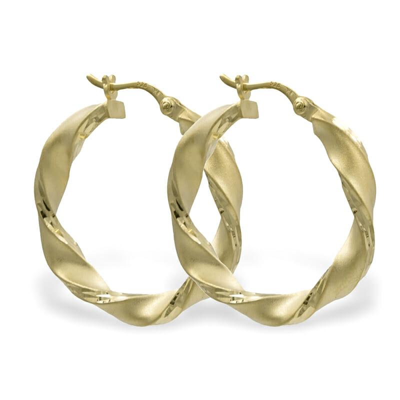 Creolen Diamantiert Gold