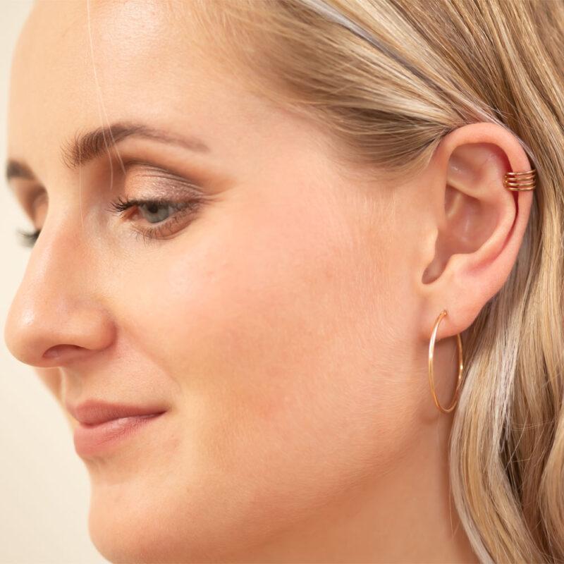 Ear Cuff Ohrring rosé