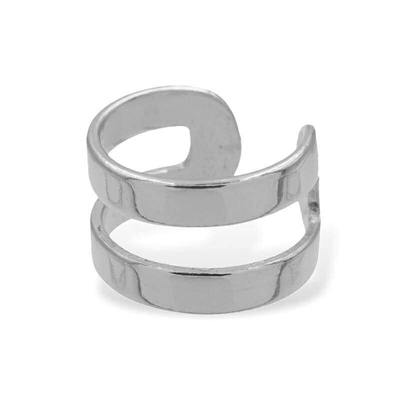 Ear Cuff Clean Silber