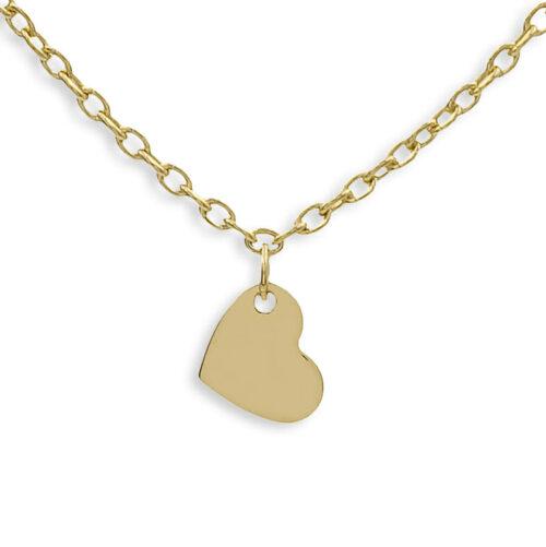 Herzkette Gold mit kleinem Herz