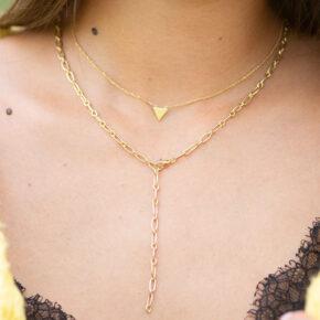 Dreieck Halskette Gold