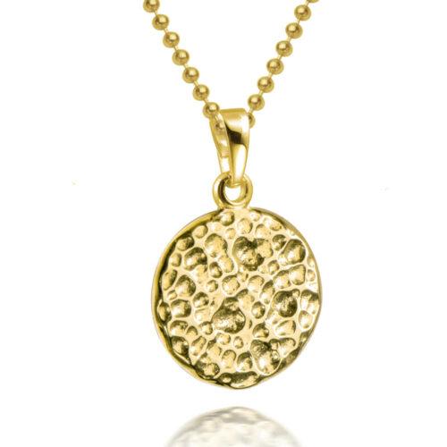 Hammerschlag Halskette Gold