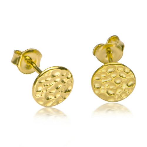 Hammerschlag Ohrring Gold