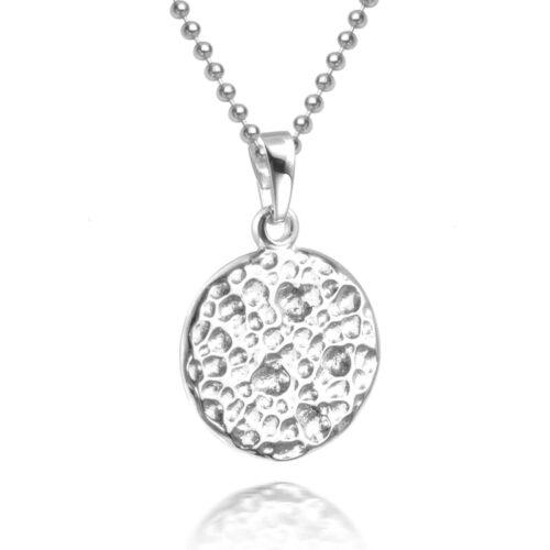 Hammerschlag Halskette Silber