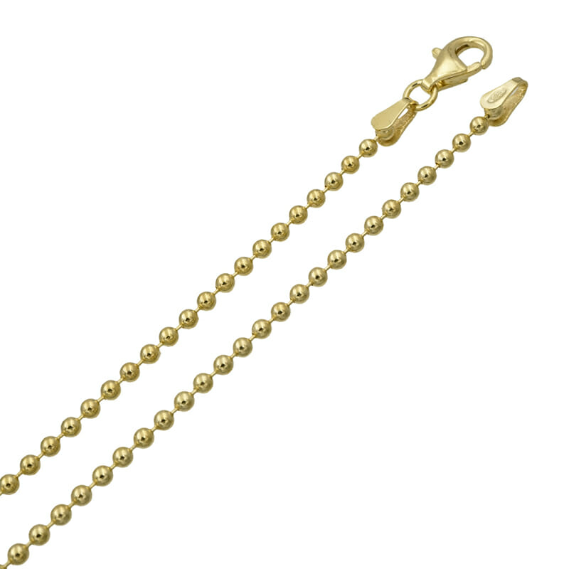 Kugel Halskette Gold