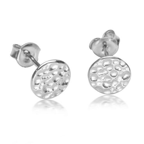 Hammerschlag Ohrring Silber