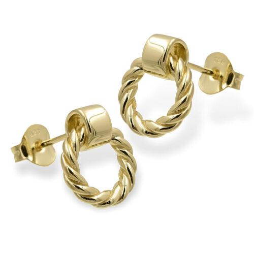 Runde Ohrringe Gold