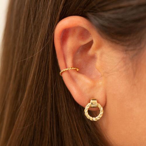 Ear Cuff gedreht gold