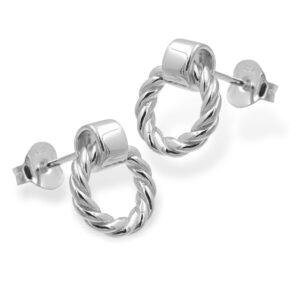 Runde Ohrringe Silber