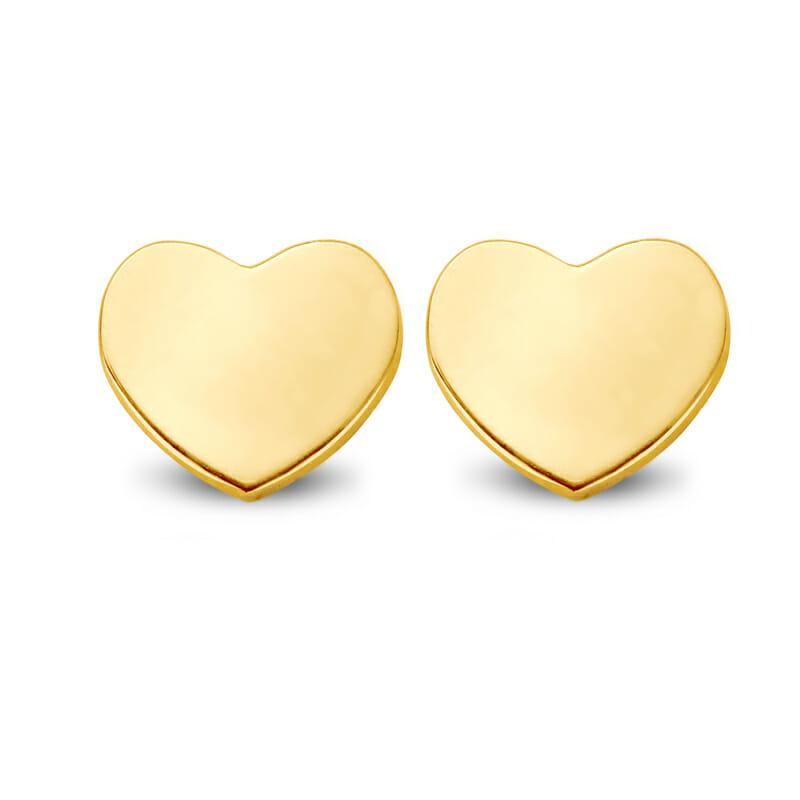 Ohrring Ohrstecker Herz Gold