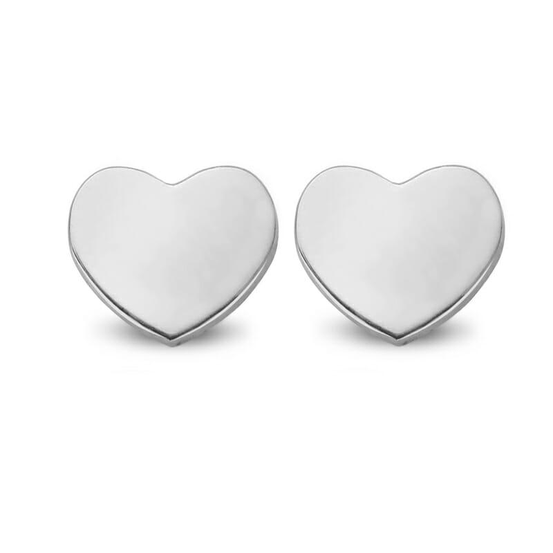 Ohrring Ohrstecker Herz Silber