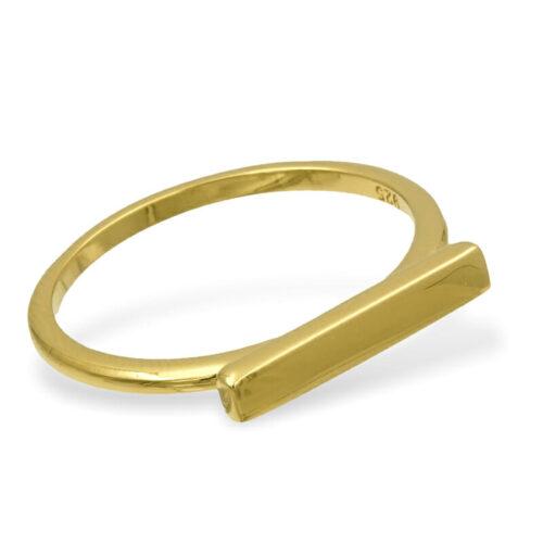 Bar Ring Gold