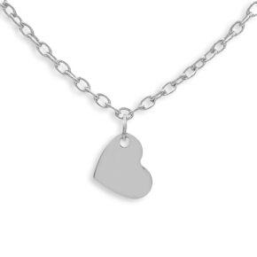 Herzkette Silber mit kleinem Herz