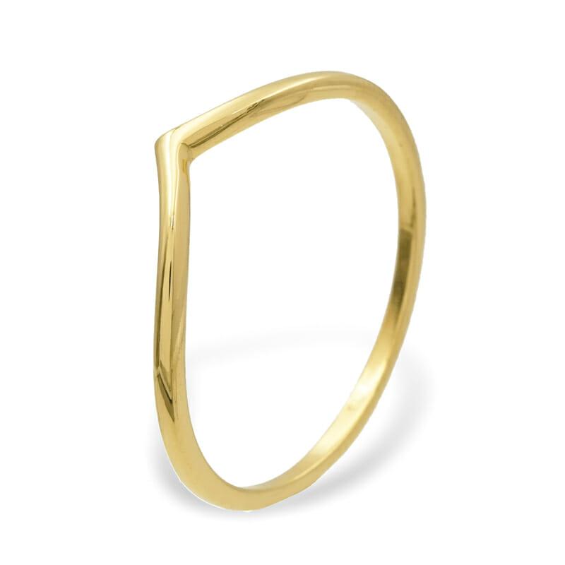 V Ring Gold