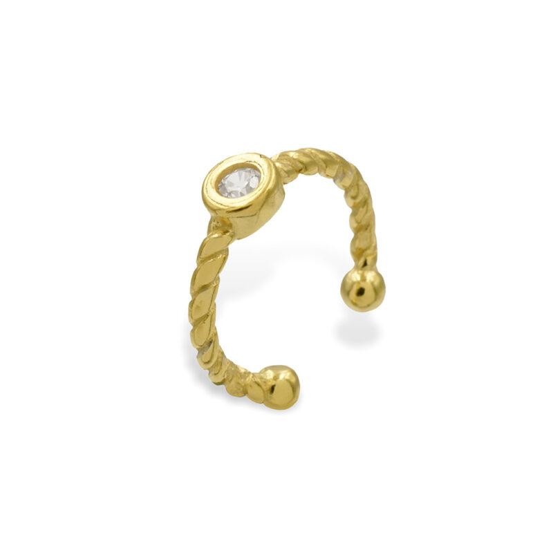 Ear Cuff Gold Zirkonia