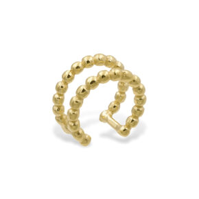 Rosenkuss Earcuff Twin Kugeln Gold