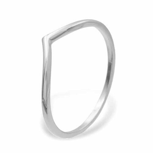 v Ring Silber