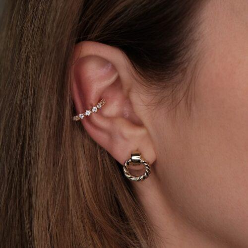 Ear Cuff mit Zirkonia