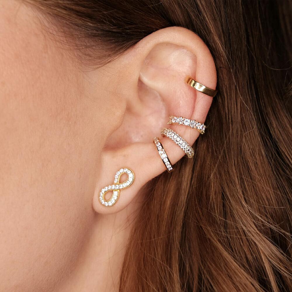 verschiedene Ear Cuffs in Gold und unendlich Ohrring