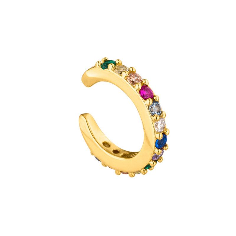 Icrush prism shine Ear Cuff Gold