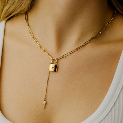 Icrush Unfolded Kette Gold