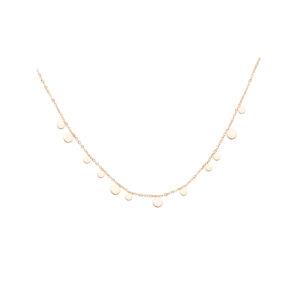 Plättchen Halskette Gold