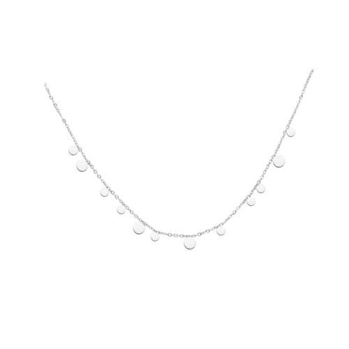 Plättchen Halskette Silber