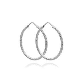Creolen Diamantiert Silber