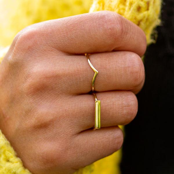 Wishbone Ring Gold
