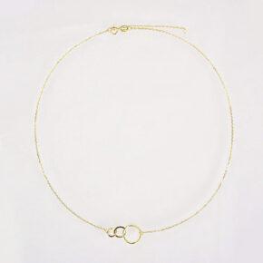Kreis Halskette Gold