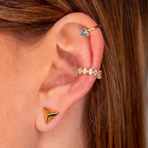 Ear Cuff Blau