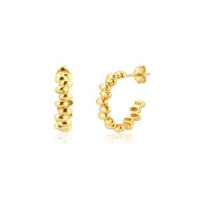 Moderne Creolen gold