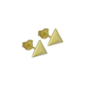 Ohrstecker Dreieck Gold