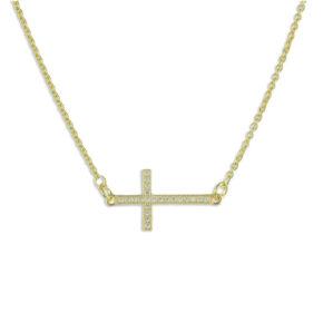 Halskette mit Kreuz gold