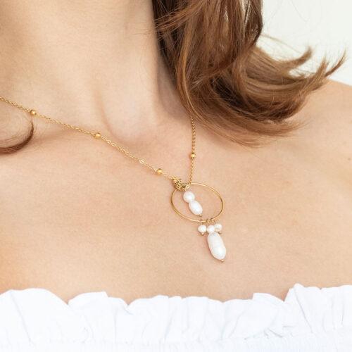 Moderne Perlen Halskette