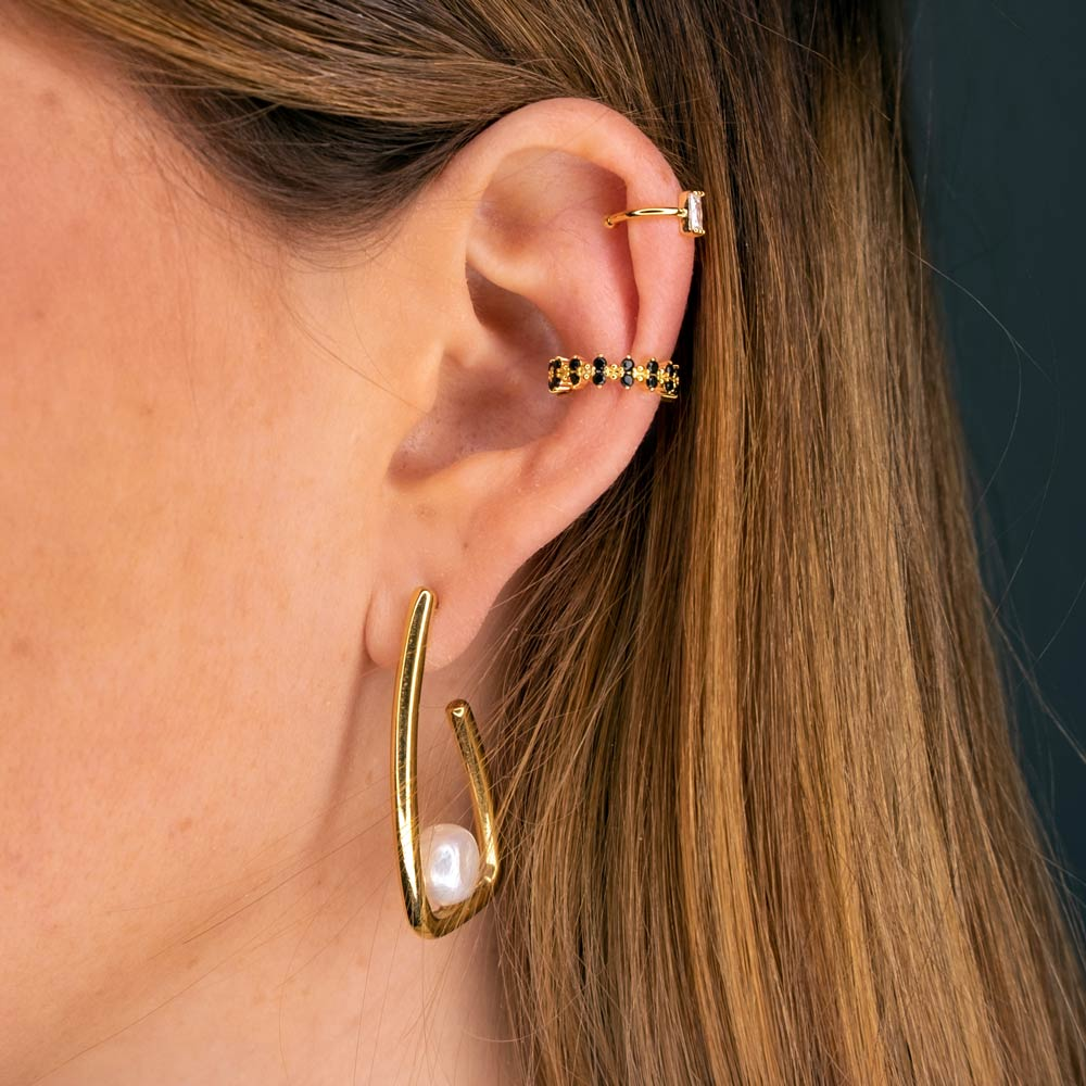 Ohrring mit Perle und Ear Cuffs