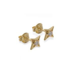 Ohrstecker Gold Stern
