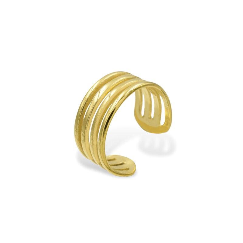 Ear Cuff Gold 4 reihig