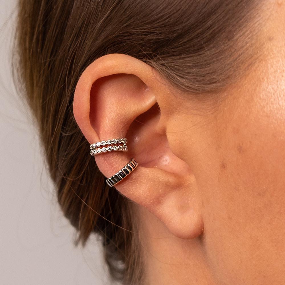 Ear Cuff Aria Silber