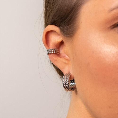 Ear Cuff Silber Modern